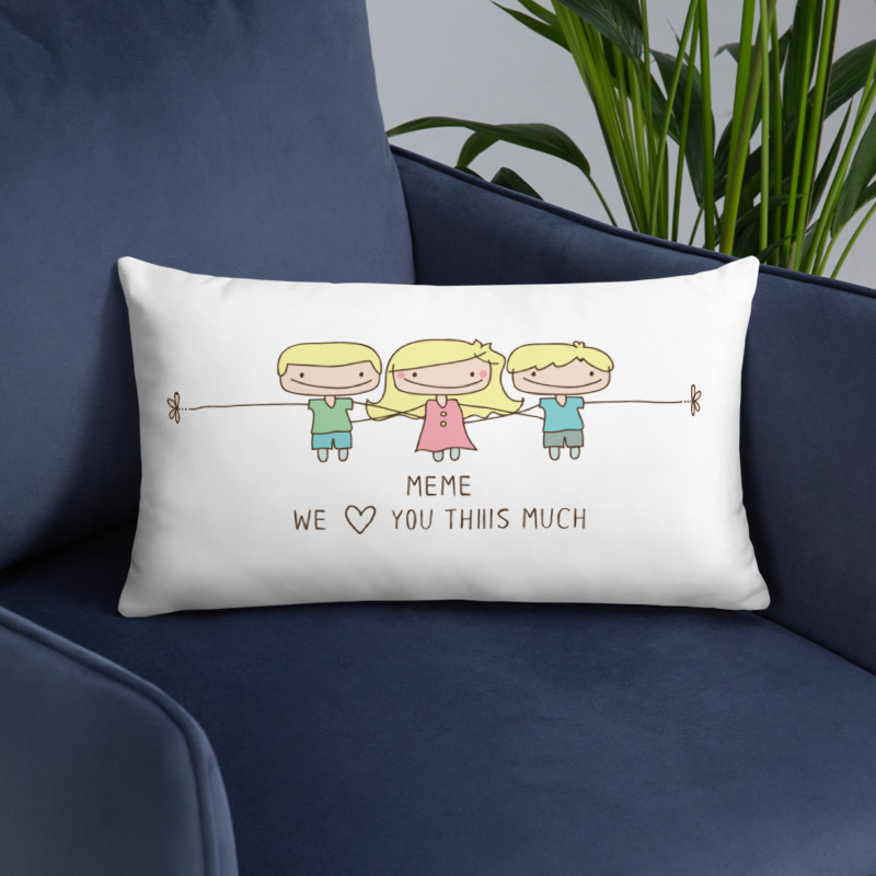 Personalized gift for Grandma. Mother's Day pillow gift