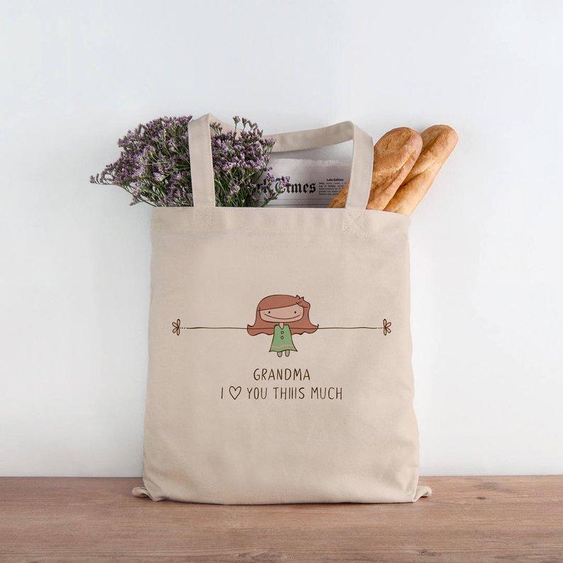 Cotton tote bag for Grandma